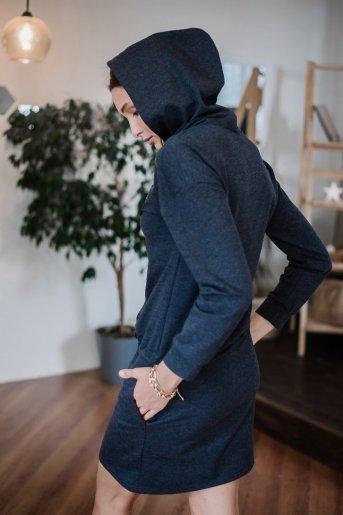 """Платье П 782 """"Ж"""" (Меланж темно-синий) (Фото 2)"""