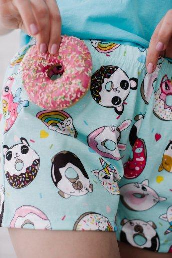 """Женская пижама ЖП 022 """"Ж"""" (Голубой_принт пончики) (Фото 2)"""