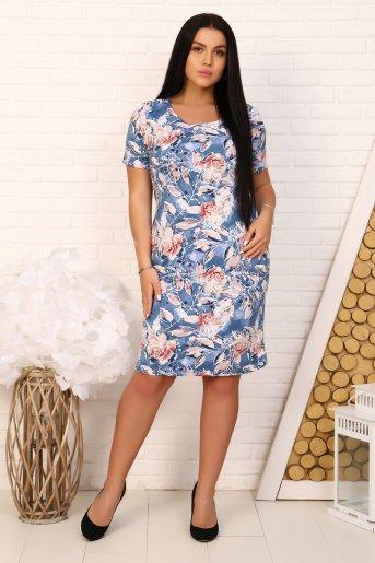 "Платье 6931 ""Н"" (Голубой) - Дамит"