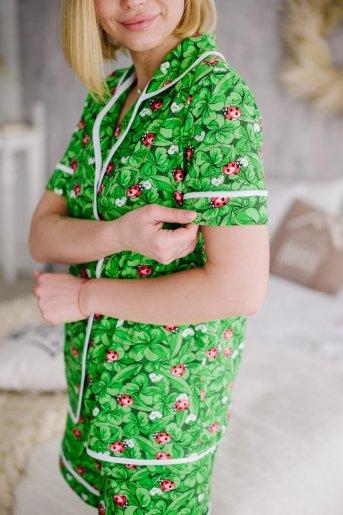 """Женская пижама ЖП 060 """"Ж"""" (Принт божья коровка) (Фото 2)"""