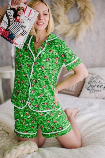 """Женская пижама ЖП 060 """"Ж"""" (Принт божья коровка) - Дамит"""