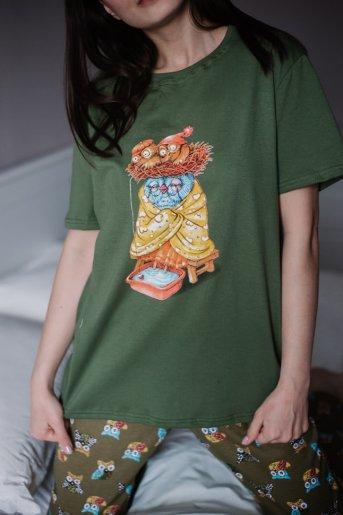 """Женская пижама ЖП 039 """"Ж"""" (Принт сова с гнездом) - Дамит"""