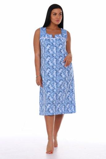 Сорочка Ира (Голубой) - Дамит