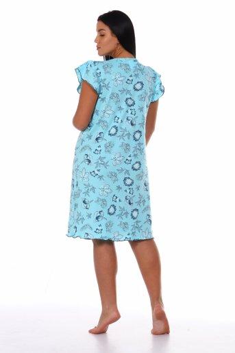 Сорочка Нежность (Голубой) (Фото 2)
