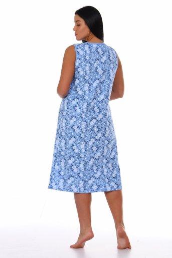 Сорочка Ира (Голубой) (Фото 2)