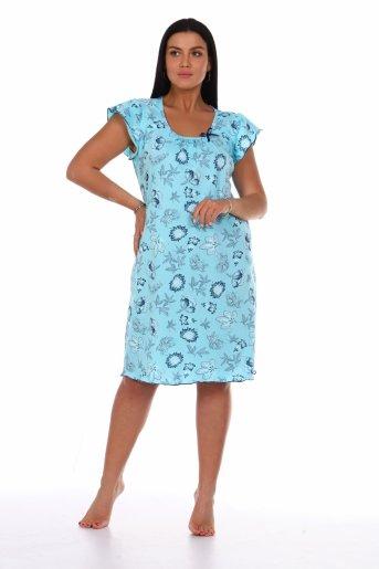 Сорочка Нежность (Голубой) - Дамит