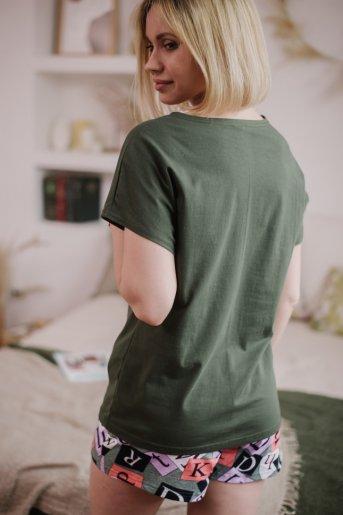 """Женская пижама ЖП 022 """"Ж"""" (Хаки_принт буквы) (Фото 2)"""
