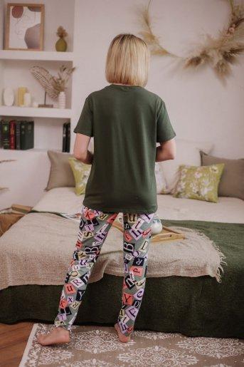 """Женская пижама ЖП 024 """"Ж"""" (Хаки_принт буквы) (Фото 2)"""