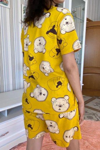 "Женская пижама ЖП 069 ""Ж"" (Мишки на горчичном) (Фото 2)"