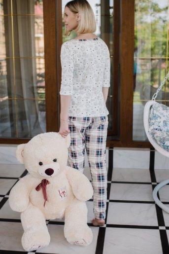 "Женская пижама ЖП 068 ""Ж"" (Игрушки _ клетка) (Фото 2)"