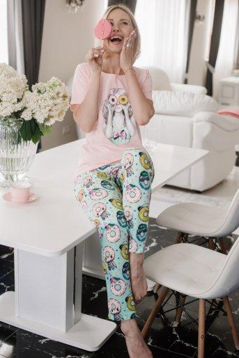 """Женская пижама ЖП 067 """"Ж"""" (Девушка с пончиками) - Дамит"""
