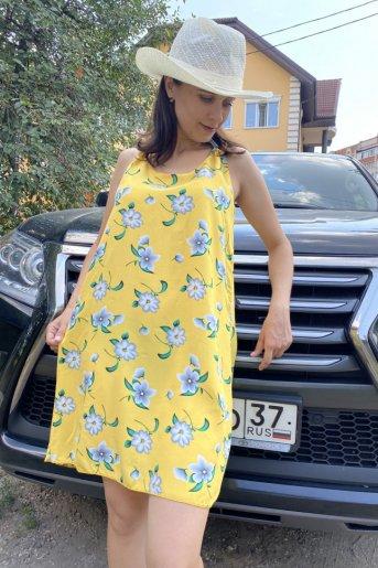 "Сарафан С 50 ""Ж"" (Цветы на желтом) - Дамит"