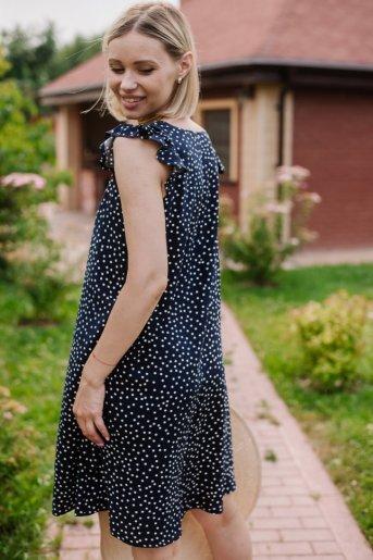 """Платье П 703/1 """"Ж"""" (Мелкий горошек на синем) (Фото 2)"""