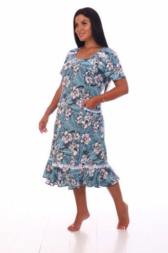 Платье Аня (Олива) (Фото 2)