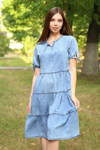 "Платье 38012 ""Н"" (Голубой) - Дамит"