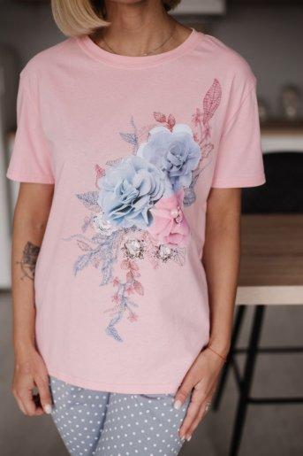 """Женская пижама ЖП 024 """"Ж"""" (Розовый_горох на сером) (Фото 2)"""