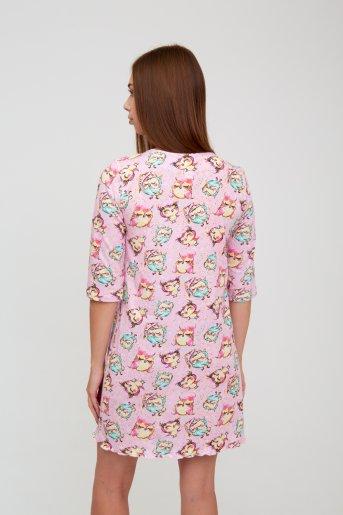 """1513 Ночная сорочка """"А"""" (Розовый) (Фото 2)"""