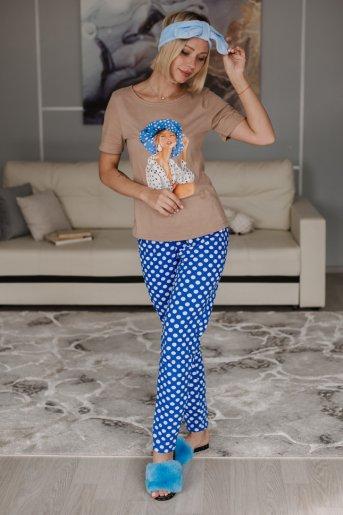 "Женская пижама ЖП 067 ""Ж"" (Дама в шляпе) (Фото 2)"