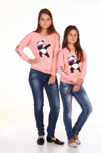 Свитшот Deb Панда (Розовый) - Дамит