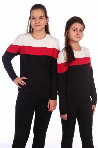 Свитшот Хайт-2 (Черный, красный, белый) - Дамит