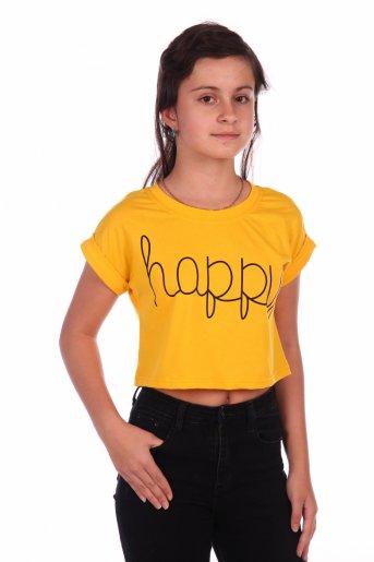 Футболка Happy-2 (Желтый) - Дамит