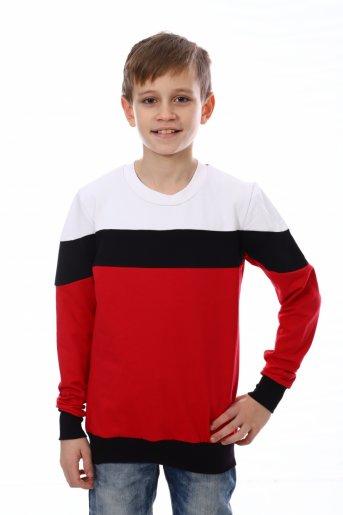 Свитшот Хайт-2 (Красный, чёрный, белый) - Дамит