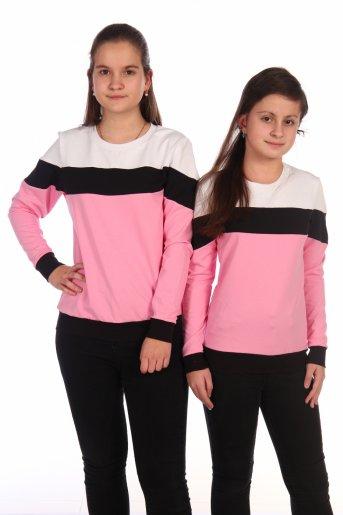 Свитшот Хайт-2 (Розовый, черный, белый) - Дамит