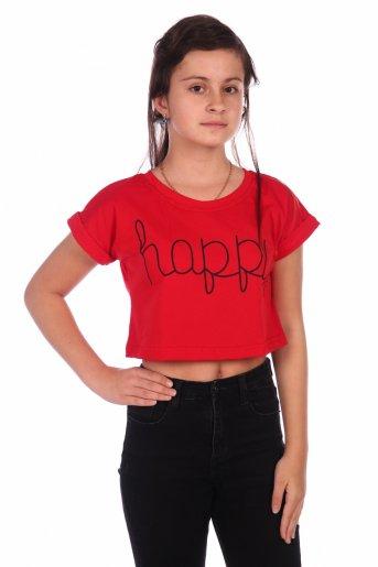 Футболка Happy-2 (Красный) - Дамит