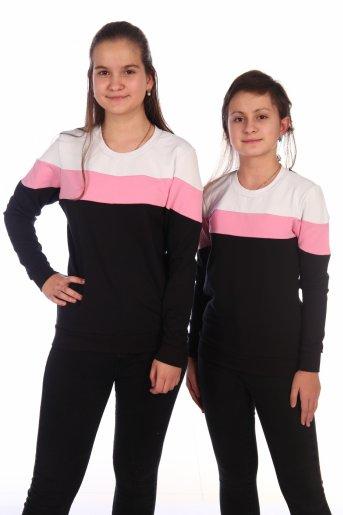 Свитшот Хайт-2 (Черный, розовый, белый) - Дамит