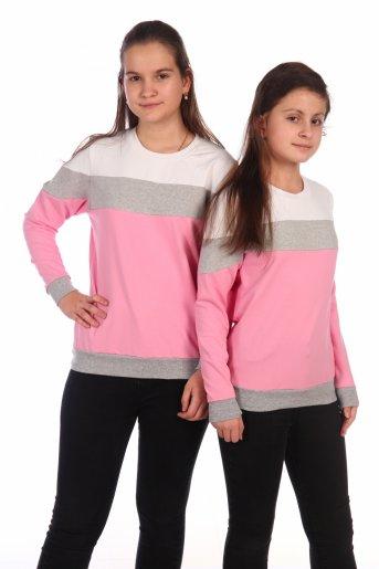 Свитшот Хайт-2 (Розовый, серый, белый) - Дамит