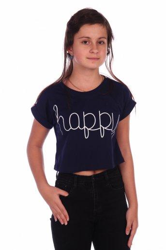 Футболка Happy-2 (Темно-синий) - Дамит