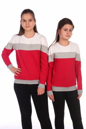 Свитшот Хайт-2 (Красный, серый, белый) - Дамит