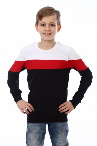 Свитшот Хайт-2 (Чёрный, красный, белый) - Дамит