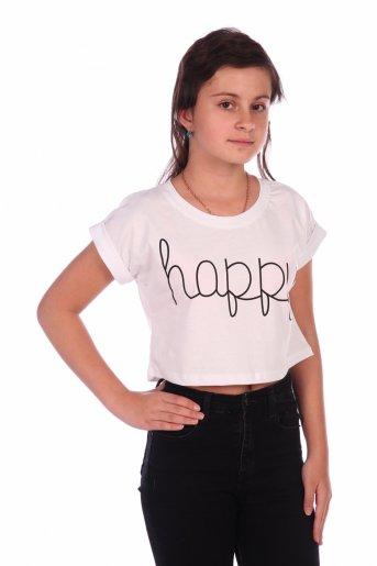 Футболка Happy-2 (Белый) - Дамит