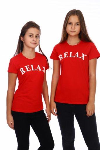 Футболка RELAX (Красный) - Дамит