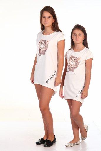 Туника Кошка (кулирка) (Белый) - Дамит