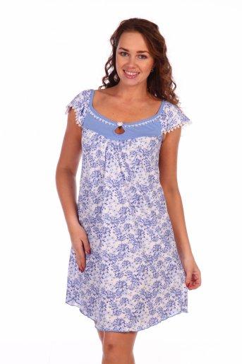Сорочка Ромашка (Голубой) - Дамит