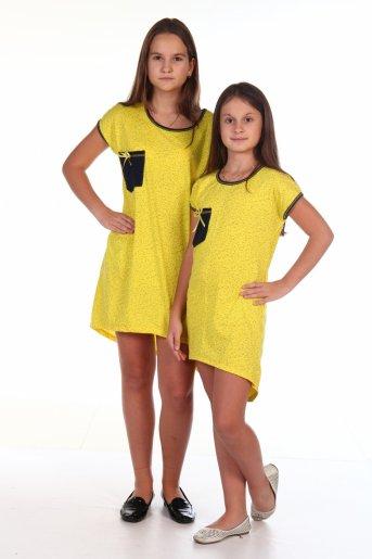 Сорочка-туника Нюша (Желтый) - Дамит