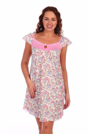 Сорочка Ромашка (Розовый) - Дамит