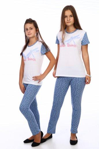 Пижама Стрекозы (дл. брюки) (Синий) - Дамит
