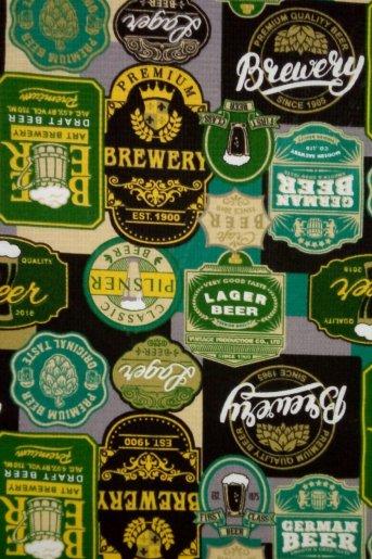 Полотенце вафельное Пиво (Зелёный) - Дамит
