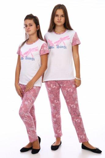 Пижама Стрекозы (дл. брюки) (Розовый) - Дамит