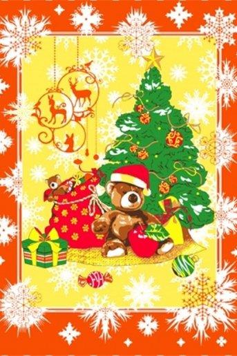 Полотенце новогоднее Мишка (Оранжевый) - Дамит