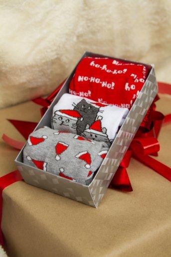 """Носки Рождество женские (3 пары) """"Н"""" - Дамит"""