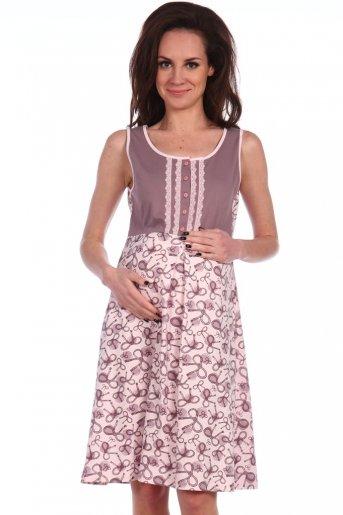 """№ 1134 Ночная сорочка для беременных и кормящих """"А"""" - Дамит"""