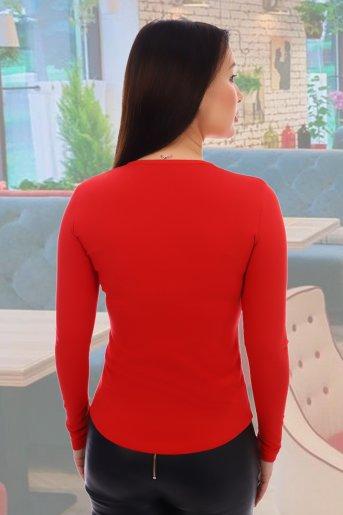"""Блузка 10458 """"Н"""" (Красный) (Фото 2)"""