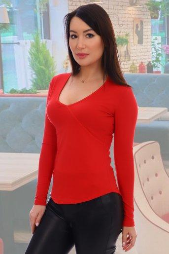 """Блузка 10458 """"Н"""" (Красный) - Дамит"""