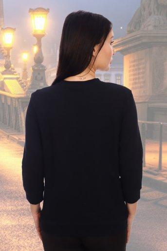 "Блуза 10211 ""Н"" (Черный) (Фото 2)"