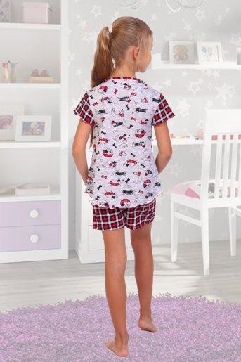 """Пижама 6311 детская """"Н"""" (Красный) (Фото 2)"""