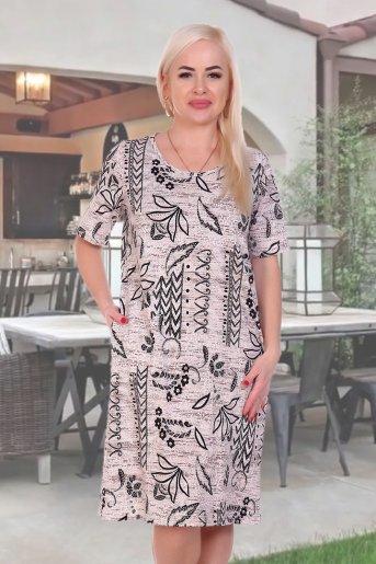 "Платье 3794 ""Н"" (Бежевый) - Дамит"